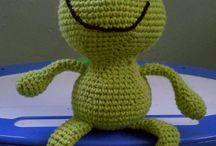 żaby - szydełko / amigurumi
