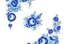 Blue and folk/Niebieskie i folkowe