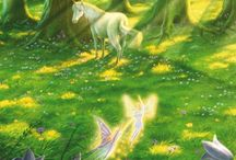 Unicorns / Paintings about the Beings of Nature of the Earth element (Spirits of Nature, Elementals, Sidhe, Petit Peuple, émanants): Unicorns.