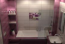 YOUR BATH / Μελέτη και σχεδιασμός για κατασκευή μπάνιου σε μονοκατοικία στην Θεσσαλονίκη. Επιλέχθηκαν και χρησιμοποιήθηκαν πλακάκια με διάσταση 20 x 60 cm με γυαλιστερή ανάγλυφη επιφάνεια σε αποχρώψσεις του λευκού και του Lilla.