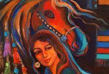 modern at ve kadın