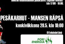 Pesäkarhut vs. Mansen Räpsä 28.5.2014 / Ottelmainos