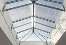 Glass Beam Supported Glass Rooflights / Rooflights can be supported by glass beams (or glass fins as they are also known) which are constructed from layers of toughened glass laminated together, and can be as strong as aluminium when used for support.