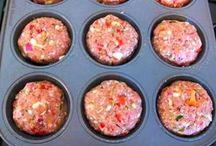 Gezakt muffins met purée van aardappel