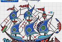 πλοια σταυροβελονια