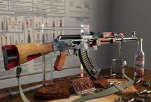 Armas Partidas ao meio - Funcionamento / Mostra um pouco o esquema de funcionamento de algumas armas