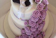 wedding cake / figurines mariés