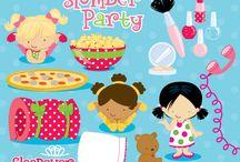 Mygrafico Slumber party printable kids, cliparts and party ideas / by Mygrafico Digitals