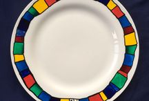 Hand-Painted Plates / Hand-painted plates by Michael Carlton