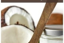 coconut milk,  flour and coconut oil cooking / I love coconut