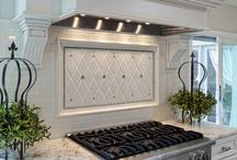 kitchen tile backsplash / by Sherry Smith Lamb
