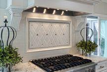 kitchen tile backsplash / by Sherry Smith Lamb
