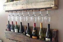 Repisas y muebles para vinos