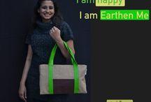 I am / jute bags trendy stylish for modern women