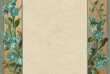 Miniatures - photo album pages / Pages for a Victorian photo album