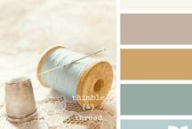 PALETA DE COR / Combinações de cores para desenhos, roupas, interiores e ao que mais for util... ^^