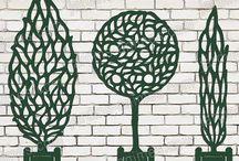 Treillage & support pour grimpantes / jardin, support fleurs, habillage d'un mur