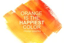 For the Love of Orange / Orange is optimistic and uplifting, rejuvenating our spirit, radiating warmth and happiness - we love it!