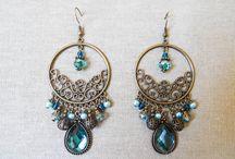 Perles et arabesques... / Des boucles d'oreilles qui font rêver !