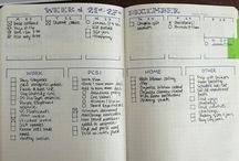 Organize / Bills, tasks, ideas, life. Organizing them or trying.