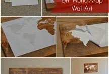 Karten Wandkunst