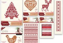 Scandinavian Christmas / For Christmas in a truly authentic Nordic style, look no further than the new Scandinavian Christmas range from the Signature Collection by Sara Davies. Featuring birds, reindeer, festive patterns and Christmas sentiments, this collection is perfect for creating all your festive makes.