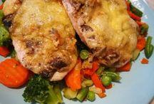 Gombás sajtos csirkemell