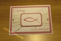Kommunion/Konfirmation / Einladungskarten; Glückwunschkarten; Gastgeschenke...