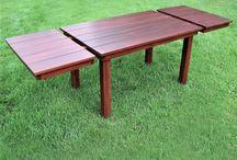 Tables en cèdre meubles de patio