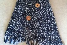 Crotchet shawl / Crochet shawl with button up front