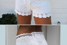 shorts de crochê