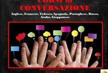 CORSI DI CONVERSAZIONE  / Corsi di #conversazione in #offerta per i prossimi due mesi! 5,00€ all'ora! #Inglese, #Francese, #Spagnolo,#Portoghese, #Russo, #Arabo, #Tedesco