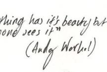 Words, Tattoos, Art