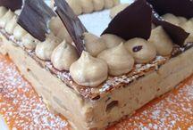 Dessert du jour. Millefeuille praline poires chocolat / Étape par étapes. La crème mousseline praline. Le feuilletage chantonne chocolat. Les poires pochées à la vanille