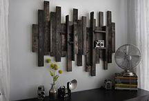 Murales decorativos madera de madera