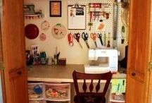 sewing space and storage rooms