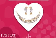 Valentines Week Offer / Get 15% off on Selected Jewelry during this Valentines Week  and get extra 10% Charu cash