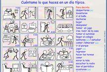 la rutina en español / Actividades diarias