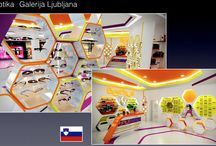 Opticas - Opticians Shop / Óculos - Lentes - Lojas- Optical lenses - Opticians - Gafas