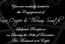 Wedding/Engagement Invitations / Wedding and engagement invitations
