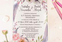 Szklane zaproszenia ślubne