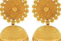 charming jhumkas / Gold-filled collection of Jhumkas   Shop Now - http://bit.ly/1U7sHn8