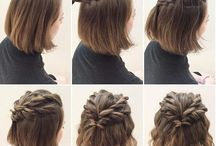 Braid Hairstyle for Bobs / Braid or twist hairstyle for bobs