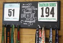 Double Bib and Medal Rack / by Strut Your Stuff Sign Co