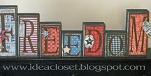 Red, White&Blue Board / by Rhonda Merry