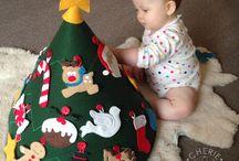 Advent calendar and handmade decorations