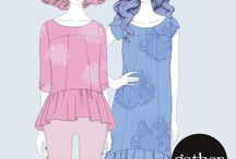 The Azaire / The Azaire - a top & dress sewing pattern by gather