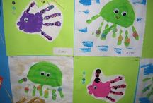 Handprint Activities / Activities using kids' hand prints - perfect for sign language classes