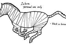 zebra,ló