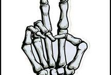 skeleton drawings...